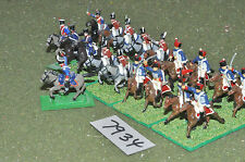20mm napoleonic british mixed cavalry 19 cavalry plastic (7934) painted