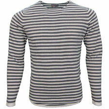 Bequem sitzende gestreifte Langarm Herren-T-Shirts aus Baumwolle