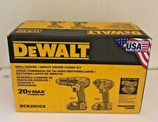 DEWALT DCK280C2 20-Volt Max Li-Ion 1.5Ah Compact Drill and Impact Driver set New