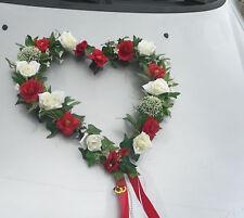 XL Autoschmuck Autogirlande Herz Hochzeit  Autogesteck Dekoration Brautauto NEU