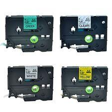 4PK TZ TZe 721 621 221 121 Label Tape For Brother P-Touch PT-E200 PT-E300 9mmx8m