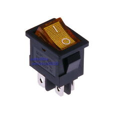 Interruttore a Bilanciere 230V Bipolare Luminoso On/Off 21x15mm Giallo