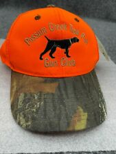 NEW Possum Creek Trail Pub Gun Club Bird Dog Hunting Orange Camouflage Hat Cap