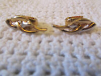 Gold Tone Clip On Earrings of Unknown Vintage - 2.1cm long