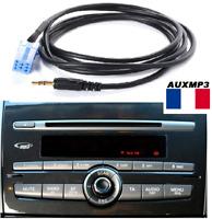 Cable auxiliaire aux pour brancher sur autoradio FIAT BRAVO 2008 mp3 portable