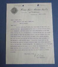 Old 1903 - Home Fire & Marine - Insurance - Letterhead - San Franc 00006000 isco Ca.