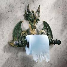 CL45492 Bath Tissue Tyrant: Commode Dragon Toilet Paper Holder - Gothic Medievil