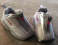 68c622b520a5 NIKE Shox R4 Size 2C White Silver Gray Red Zipper Baby Toddler Shoes 850405  EUC