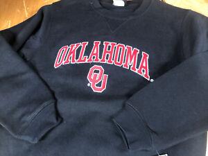 NWT new OU OKLAHOMA SOONERS black SWEATSHIRT Pullover Youth 10-12 Boys M Medium