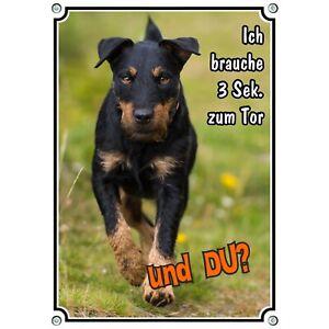 Hundeschild - Deutscher Jagdterrier - uv-beständiges Warnschild aus reinem Alumi