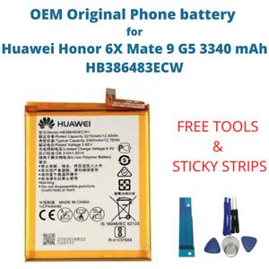 OEM Original Battery For Huawei Honor 6X Mate 9 G5 3340 mAh Capacity HB386483ECW