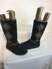 Ugg Australia Avondale S/n3330 Ladies Black Leather Boots Uk 5.5/6 Ref Ba02
