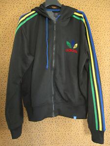 Veste Adidas à Capuche Originals noire rasta Jacket vintage Homme - L