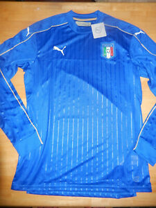 New FIGC Italy home long sleeve Player Issue football shirt 2016/17 BNWT Puma L
