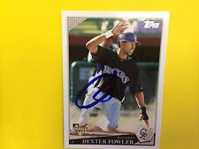 Dexter Fowler   autograph baseball card  Cubs   Rockies  signed   authentic 2009