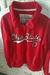 Ohio State Buckeyes J America Women's Zip Track Jacket Size SMALL Red EUC!