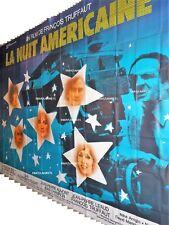 LA NUIT AMERICAINE truffaut movie poster french BILLBOARD ORIGINAL 8 panels 1973