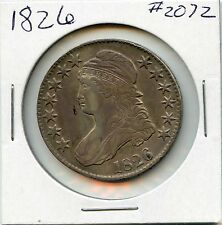 1826 50C Capped Bust Silver Half Dollar. Circulated. Lot #1765