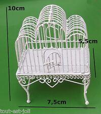 cage à oiseaux en métal miniature, maison de poupée, vitrine,vogelkooi, bird  M3