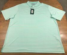 Roundtree & Yorke Men's Performance Polo Shirt 3XLT 3X Tall Green / White NWT