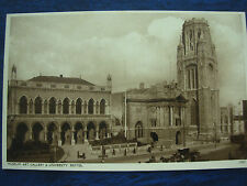 VINTAGE POSTCARD MUSEUM ART GALLERY & UNIVERSITY - BRISTOL - HORSE & CARRIAGE
