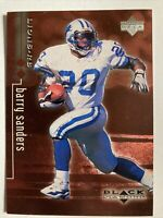 1998 Upper Deck Barry Sanders 2880/3000 Red Black Diamond Detroit Lions #28