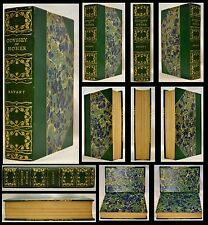 ODYSSEY HOMER c1899  BRYANT MAP GREEN LEATHER GILDED MARBLED FINE CONDITION!