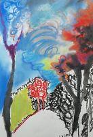 Lysiane D. COSTE drawing pastels secs 26/37cm sur papier paysage landscape  2017
