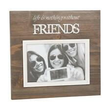 """Friends Photo Frame Galvanised Wood Design 4 x 6"""" Photo Frame Boxed 65420"""