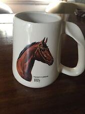 Vintage  LYNN BOGUE HUNT  Large Goss China Mug  RACEHORSE  TWENTY GRAND