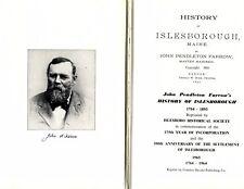 History of Islesborough Maine by John Pendleton Farrow 1965 Reprint Hardcover