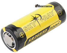 SKYRAY SR26650 3.7V 5000mAh Li-ion Protected Rechargeable Battery for SureFire