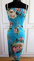 Dolce & Gabbana D&G floral roses print blue bustier dress sz  30/44UK12US8EU38