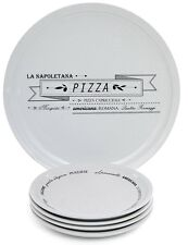 Sabichi 5 Piece Porcelain Pizza Plate Serving Set