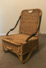 Vintage Woven Wicker Foldable Beach Chair