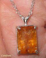 11.1 ct Rare Reddish Royal Imperial Topaz Silver Pendant