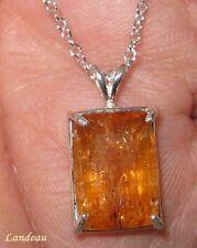 11.1 ct Rare Natural Reddish Royal Imperial Topaz Silver Pendant