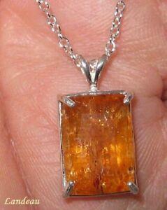 11.1 ct Rare Reddish Royal Imperial Topaz Silver Pendant ( Mine Depleted )
