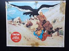 RARISSIME affiche originale du film animé Tintin et le Temple du Soleil 1969
