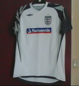England National Football Training Shirt 2006 Nationwide Kids Size XLB Adult XS