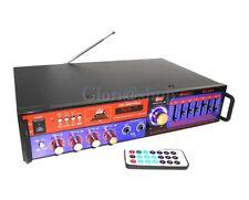 AMPLIFICATORE AUDIO EQUALIZZATORE STEREO BLUETOOTH KARAOKE RADIO FM 2 CH USB AMP