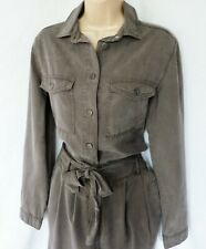 BNWT NEXT Jumpsuit taupe brown beige Tencel Boiler suit military look long L