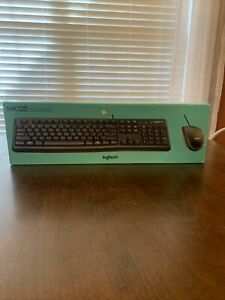 Logitech MK120 (920-002565) Wired Keyboard an Mouse Combo Open Box, Items Sealed