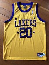Gary Payton Lakers 57' Nike Team Authentic Stitched Sonics Jersey Size Large