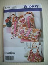 Simplicity One Size Pattern 2201 Tote Bag Purse Sewing Craft Project NEW