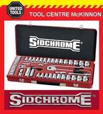 "SIDCHROME SCMT19135 51pce METRIC & A/F 1/4"" & 1/2"" DRIVE SOCKET SET"