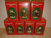 Lot of 7 Vintage 1991 Santa's of the Nations in Boxes Hand Painted Porcelain