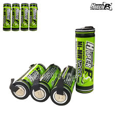 8 pcs AA 1200mAh 1.2V Rechargeable Battery Cell with Tab HyperPS For RC Toys