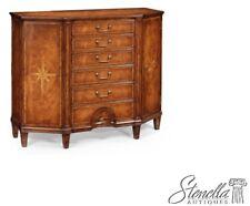 34111: JONATHAN CHARLES Starburst Inlaid Walnut Server Cabinet JC-493100 ~ New
