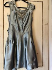 Warehouse Ladies Silver Cocktail Party Evening Dress Size 12